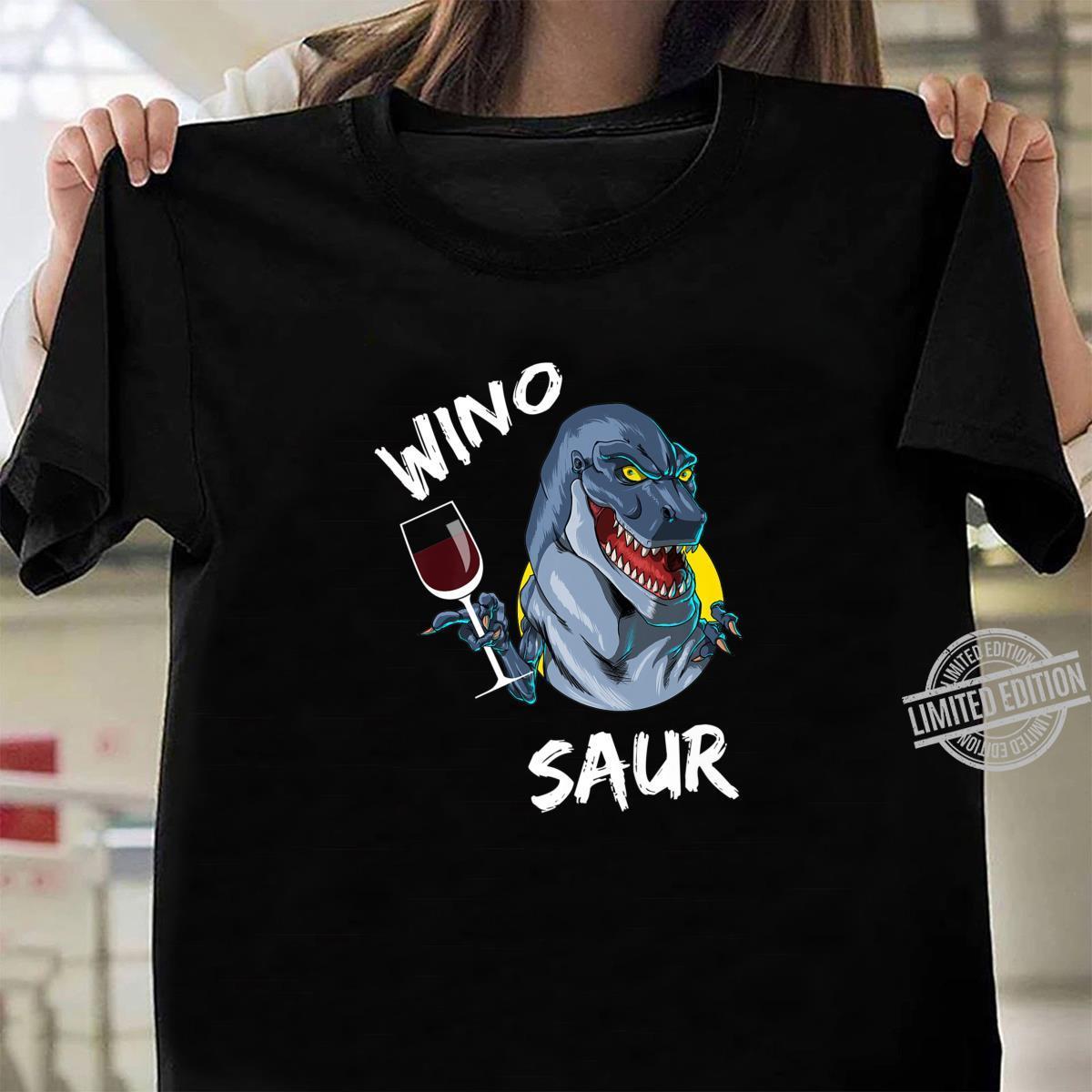 Winosaurus Dinosaur Wine Drinking Winosaur Wine Dinosaur Shirt